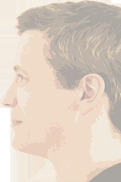 Verfremdetes Foto: Mann im Profil