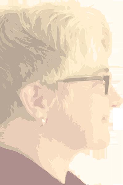 Verfremdetes Foto: Frau im Profil