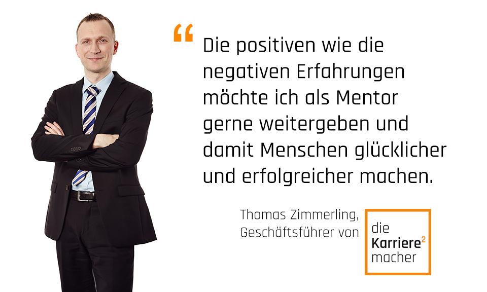 Foto: Thomas Zimmerling, Geschäftsführer und Mentor bei den Karrieremachern