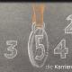 Kreidezeichnung auf Schiefertafel: Zahlen von 1 bis 5