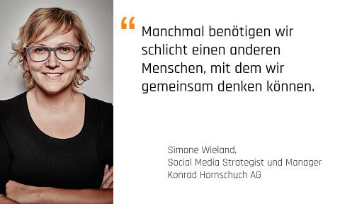 Foto: Simone Wieland, Social Media Strategist und Manager, Konrad Hornschuch AG und Mentorin bei den Karrieremachern