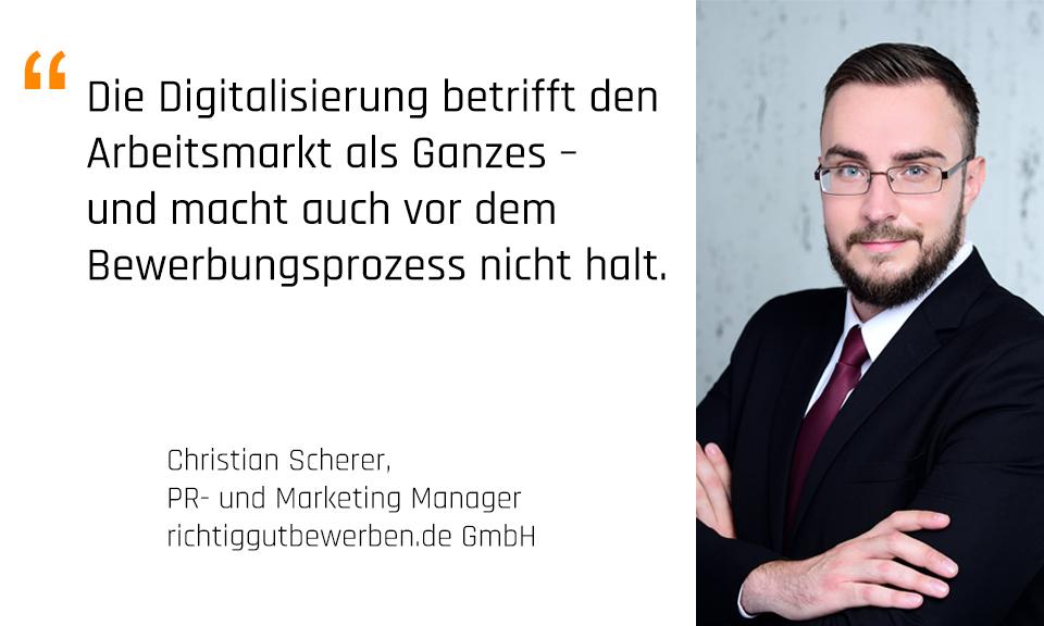 """Foto: Christian Scherer, PR und Marketing Manager, richtiggutbewerben.de; Gastautor bei unserer Blogparade """"Mentoring in Deutschland 2017"""""""