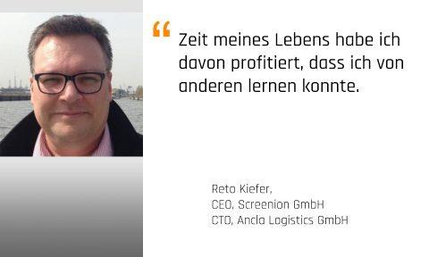 Foto: Reto Kiefer, CEO der Screenion GmbH und Mentor bei den Karrieremachern