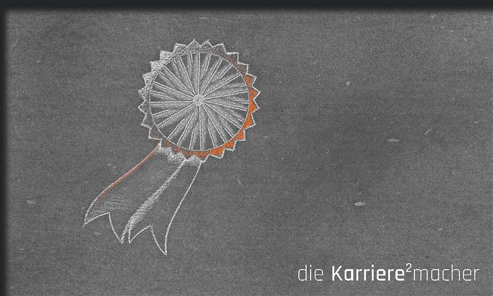 Kreidezeichnung auf Schiefer: Emblem für das Ehrenamt Mentor