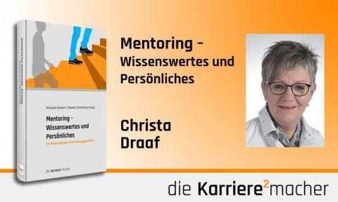Foto: Mitautorin Christa Draaf des Buches Mentoring - Wissenswertes und Persönliches