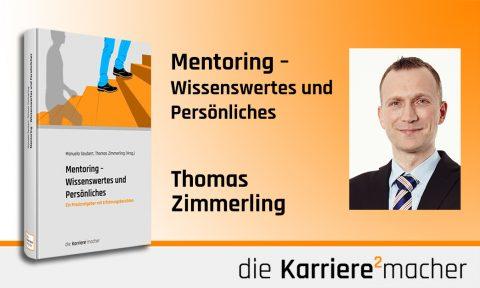 Foto: Mitautor und Mitherausgeber Thomas Zimmerling des Buches Mentoring - Wissenswertes und Persönliches